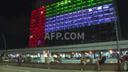 Tel Aviv City Hall is lit up with the flags of the United Arab Emirates and Israel
