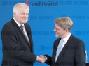 Press conference: Minister for Internal Affairs Horst Seehofer