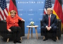米独首脳 G20 Summit in Argentina - Merkel and Trump