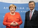 G20 Summit in Argentina - Merkel and Macri