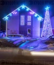 Christmas illuminated house
