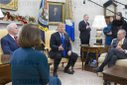 US President Donald J. Trump meets with US House Speaker-designate Nancy Pelosi and US Senate Minority Leader Chuck Schumer