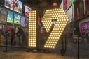 "Number ""19"" arrives in Times Square"