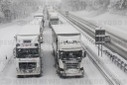 Snow on the motorway 8