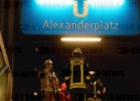 Fire at Alexanderplatz underground station