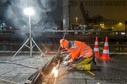 Repair work on the A7 after lamella breakage