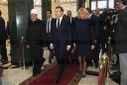 French President is received by the Grand Imam of Al-Azhar - Cairo