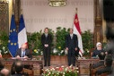 French President Emmanuel Macron during a State visit in egypt  - Cairo