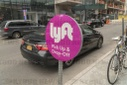 Lyft pick-up in Brooklyn in New York