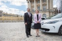 Catherine Pegard and Carlos Ghosn in the Castle of Versailles
