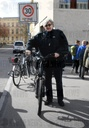 Wim Wenders rides a bicycle