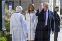 President Trump attends church services on St. Patrick's Day in Washington, DC, USA