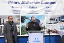 Mayor Müller visits construction site Pears Jewish Campus