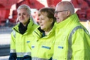 Chancellor Angela Merkel visits the Container Terminal Alte