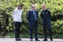 Emmanuel Macron visits France's training camp -  Clairefontaine