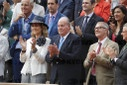 Roland Garros - King Juan Carlos at Rafael Nadal's game