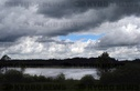 Cloud gap over the Elbe lake