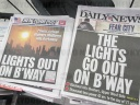 New York newspapers report on power failure