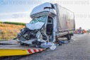 Transporter crashes into end of congestion on A6 - driver dies