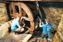 Reconstruction of a water wheel in the Frohnauer Hammer