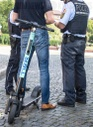 Police check e-scooter drivers