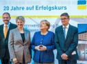 Merkel with German pension insurance company