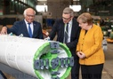 Federal Chancellor Merkel visits Herrenknecht tunnel boring company