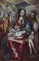 'The Holy Family with Saint Anne and John the Baptist as Child', ca. 1600, Oil on canvas, 107 cm x 69 cm, P00826. EL GRECO . VIR