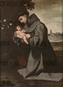 Francisco de Zurbarán / 'Saint Anthony of Padua with the Infant Christ'. 1635 - 1650. Oil on canvas. CHILD JESUS.