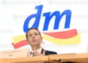 Annual press conference of drugstore chain dm