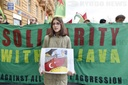 another protest against Turkish invasion of Syria held in Prague