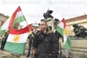 another protest against Turkish invasion of Syria held in Prague, Ivan Bartos