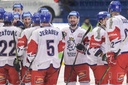 Czech players celebrate victory