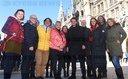 "Video shoot of the initiative ""Artists with heart"" at Marienplatz"