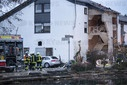 Gas explosion in apartment building