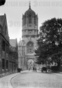 ★A glass negative circa 1900 of Tom Tower, a bell tower in Oxford, England, named for its bell, Great Tom. It is over Tom