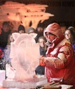Ice carving world champion at the 17th Eiswelt Rövershagen