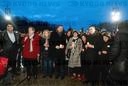 After the attack in Hanau - Brandenburg Gate vigil