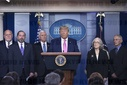United States President Donald J. Trump Holds Press Conference on Coronavirus