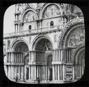 St. Mark's Cathedral, Venice circa 1900 on a magic lantern slide,