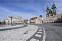 empty Old Town Square in Prague