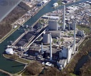 Aerial view of Karlsruhe coal-fired power station
