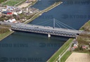 Aerial photo Rhine bridge Karlsruhe