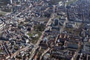 Aerial view of Karlsruhe city centre