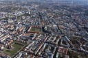 Aerial view of Stuttgart city centre