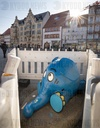 KIKA elephant is being restored