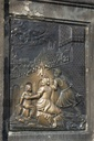Place where touch makes good luck on the Charles Bridge, St. John of Nepomuk, plaque