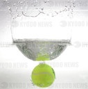 firo: 27.03.2020 General: Feature, symbolic image tennis, tennis ball, ball, in the water, water splashes