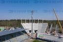 GES / Corona in Germany, Wildparkstadion construction site, April 8th, 2020