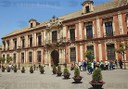 Spain. Andalusia. Sevilla. Archbishop's Palace built in 18th century. Facade. Virgin of the Kings Square.